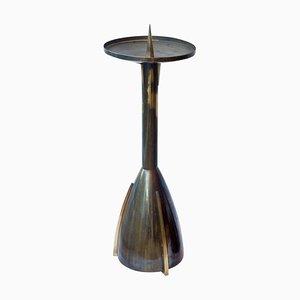 Großer Art Deco Kerzenhalter aus Messing