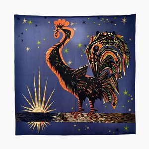 French Hand Woven Tapestry by Marc Saint Saens, 1950s