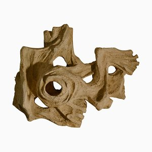 Dutch Figurative Wall Relief Sculpture in Ceramic by Klaas Pijman, 1970s