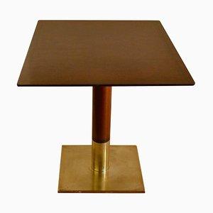 Quadratischer Esstisch auf Sockel und Fuß aus Bronze