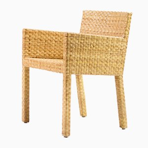 Cane Armchairs by Paola Navone for Gervasoni, Set of 10