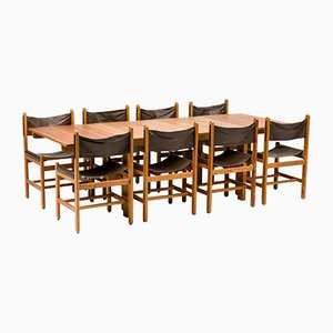 Chairs and Dining Table by Erik Wørts for Eilersen Furniture, Denmark, Set of 8