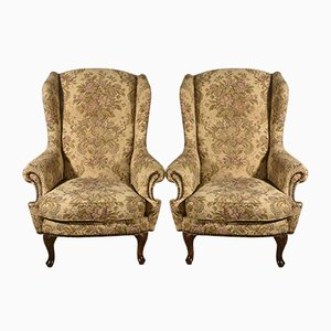 Bergere Armchairs, 1980s, Set of 2