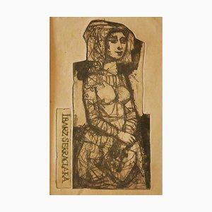 Miguel Ibarz Roca, The Girl, Gravure, 1960s