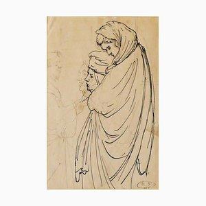Eugene Berman, Women, Pen and Pencil, 1950s