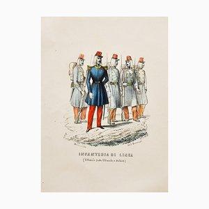 Borrani, Infanterie, Lithographie, 1850