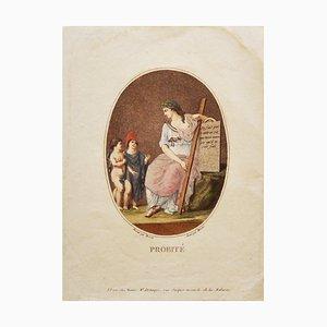 Claude-Louis Desrais, Probité, Etching, 19th Century