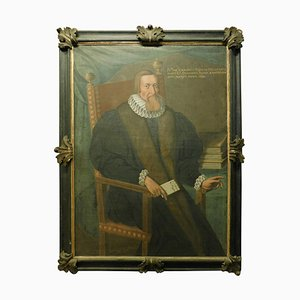 Antique Painting of Doctor of the Noble Cigalini Family, 1600s, Italy