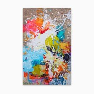 Carolina Alotus, Größer Als Das Leben Abstraktes Gemälde, 2021, Acryl und Sprühfarbe
