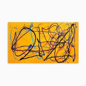 Dana Gordon, The Wayward Way Abstrakte Malerei, 2021, Acryl auf Papier