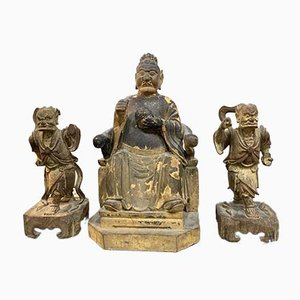 Antique Chinese Sculptures, Set of 3