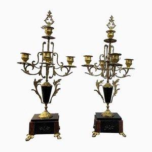 Französische Kerzenhalter, 2er Set