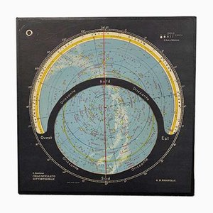 Revolving Celestial Map by Boehmer for Paravia, 1950s