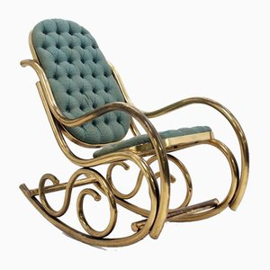 Brass Rocking Chair, 1940s