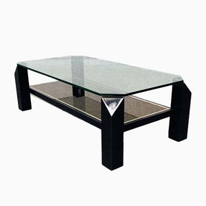 Vintage Black Coffee Table from Belgo Chrom / Dewulf Selection, Belgium