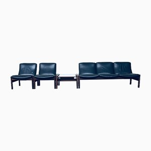 Modular Sitting Group of Sofa, Side Table and Lounge Chairs by Georges Van Rijck for Beaufort, 1960s, Set of 4