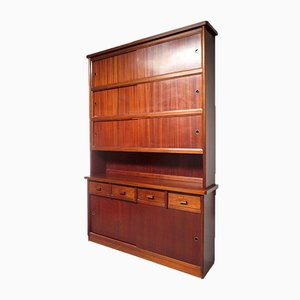 Vintage Highboard with Sliding Doors, 1960s