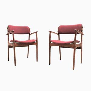 Mid-Century Scandinavian Teak Dining Chairs by Erik Buch for Odense Maskinsnedkeri / O.D. Møbler, Set of 2