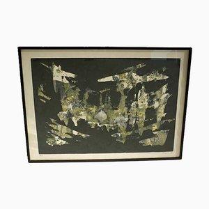 Jean Thayan, Siebdruck, Abstrakte Kunst, 1950er, Mid-Century Modern