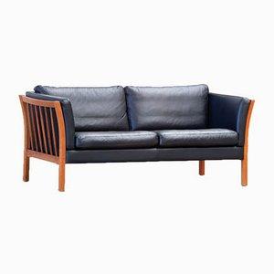 Scandinavian Leather Sofa, 1960s