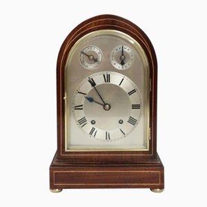 Antique German Mahogany Bracket Clock by Winterhalder & Hofmeier, 1890s