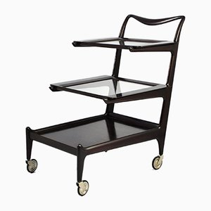Mid-Century Model 57 Trolley with Removable Trays by Ico Luisa Parisi for De Baggis, 1952