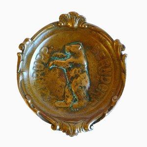 Antique Bronze Ashtray from Arthur Krupp