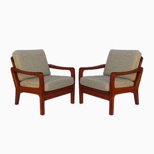 Mid-Century Danish Teak Armchairs from Juul Kristensen, Set of 2