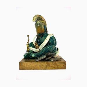 Art Modern Ceramic Warrior Sculpture