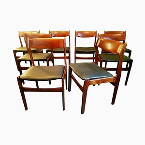 Teak Esszimmerstühle von Erik Buch, 1960er, 8er Set