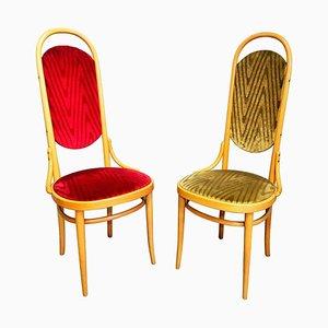 Bugholz Esszimmerstühle mit Hoher Rückenlehne von Thonet, 1987, 2er Set