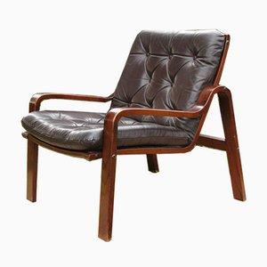 Vintage Scandinavian Style Leather Armchair