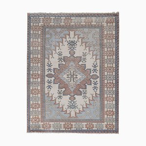 Vintage Gray Turkish Oushak Carpet, 1970s