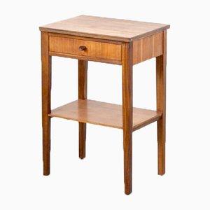 Walnut Side Table / Bedside Cabinet from W&T Lock, 1960s