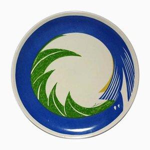 Italian Ceramic Plate by Gianni Dova for Ceramica Fiori Oscuri Milano, 1970s