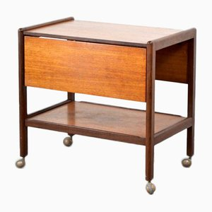 Mid-Century Fold Up Drinks Trolley / Hostess in Teak, 1960s
