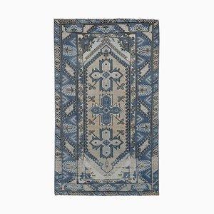 Vintage Blue Turkish Carpet, 1970s