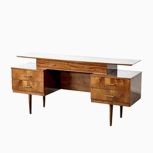 Walnut Floating Top Desk from Austinsuite, 1950s
