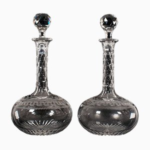Antique English Decanters, Set of 2