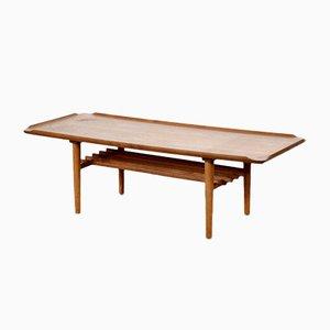 Mid-Century Danish Teak Slatted Coffee Table, 1960s