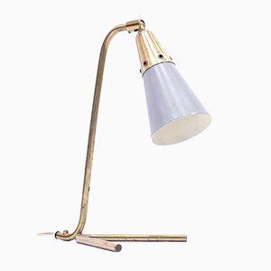 Lampe de Bureau Mid-Century Scandinave en Laiton, 1950s