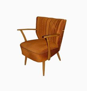 Mid-Century Rust-Orange Club Chair, 1960s