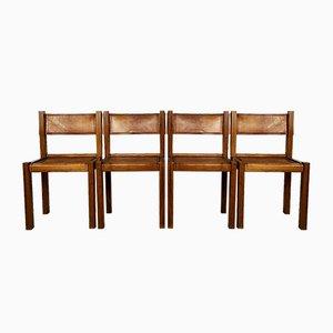 Beistellstühle im Stil Pierre Chapo, 1960er, 4er Set
