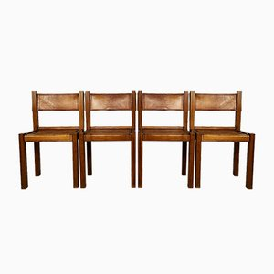 Side Chairs in the Style Pierre Chapo, 1960s, Set of 4