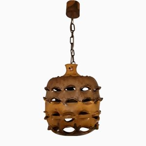 Ceramic Ceiling Lamp with Beehive Design, 1970s