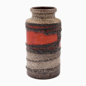 West-German Ceramic Fat Lava 203/18 Vase from Scheurich, 1970s