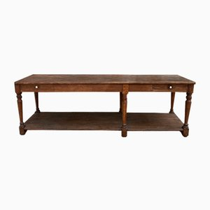 Antique Oak Linen Table