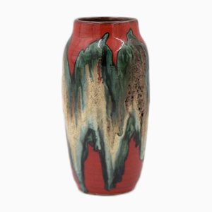 Westdeutsche Keramik Fat Lava 242-22 Vase von Scheurich, 1960er