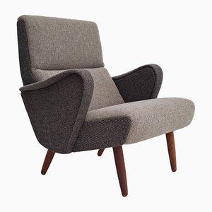Danish Armchair in Wool and Teak, 1970s