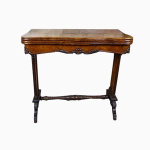 Victorian Style Card Table in Walnut, 19th Century